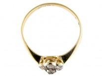 Raised Diamond Cluster Ring