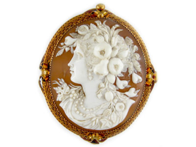 Victorian 18ct Gold Cameo Brooch