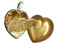 Silver Victorian Heart Vinaigrette