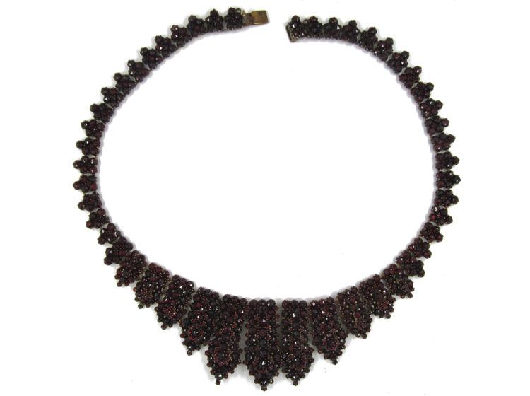 Bohemian Garnet Collar