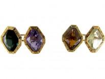 Gold Multistone Cufflinks