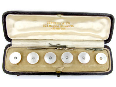 Tiffany & Co. 18ct Gold, Mother of Pearl & Diamond Buttons