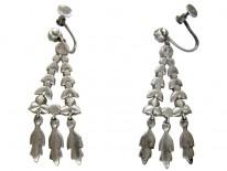 Silver & Paste Victorian Chandelier Earrings