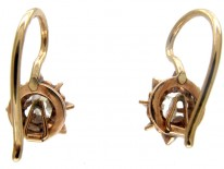Diamond Single Stone Earrings
