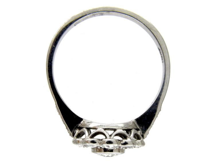 Diamond Open Cluster Art Deco Ring