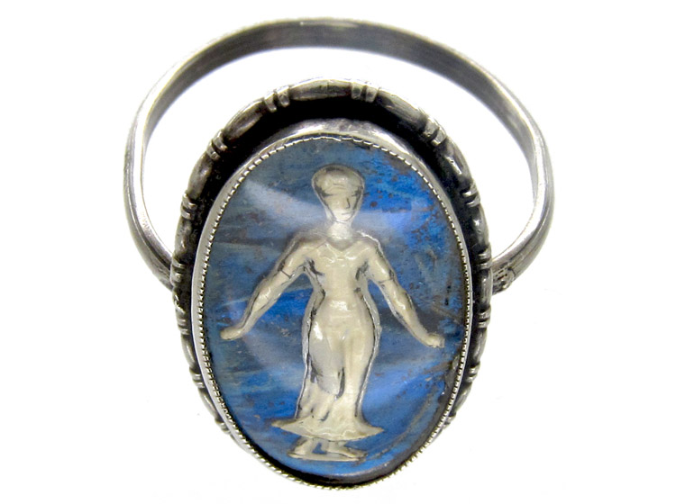Silver Butterfly Wing & Sulphide Lady Ring