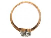 Art Nouveau Diamond Twist Ring