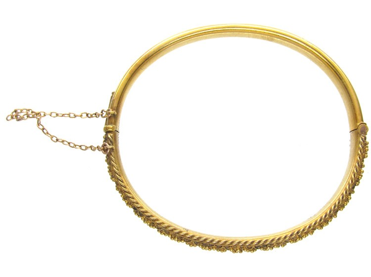 Victorian 15ct Gold Etruscan Bangle