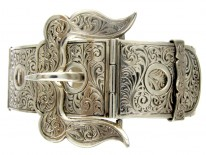 Articulated Victorian Silver Buckle Bangle
