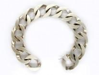 Solid Silver Curb Bracelet