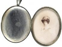 Victorian Silver Assyrian Design Locket