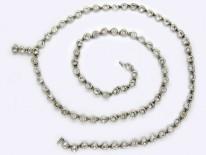 Two Row Silver & Paste Collar