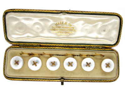 9ct Buttons in Original Case