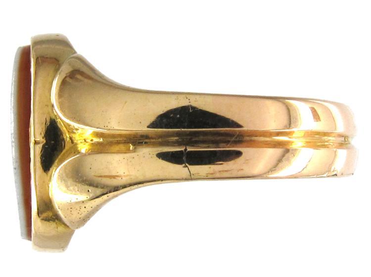 Victorian Carnelian 15ct Gold Signet Ring