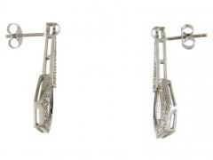 Diamond Art Deco Style Drop Earrings