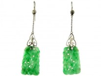Jade 18ct Gold Drop Earrings