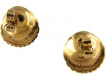 Yellow Gold & Pearl Shell Earstuds