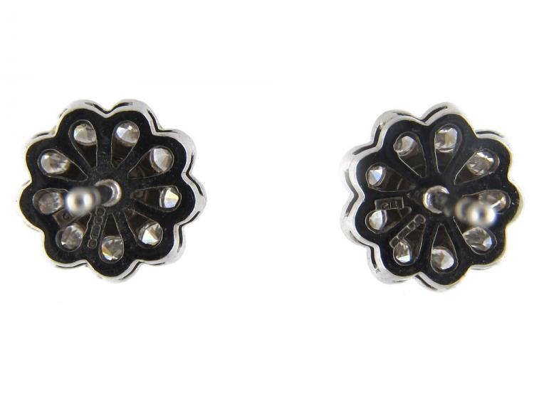 Diamond Flowerhead Cluster Earstuds