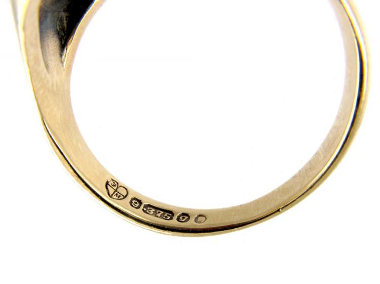 Garnet Cabochon 9ct Gold Ring
