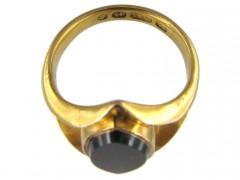 Bloodstone 15ct Gold Signet Ring