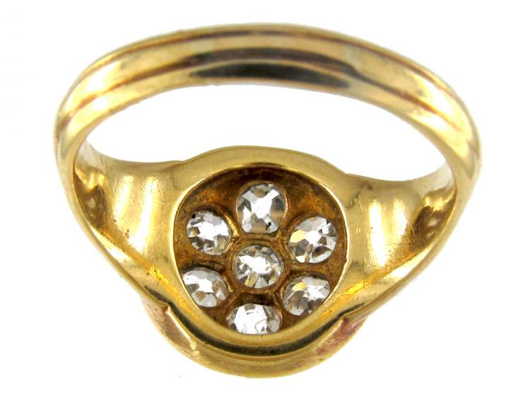 Large Victorian Diamond Cluster Ring