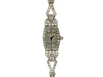 Art Deco Diamond Watch on Strap