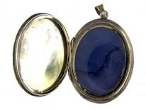 Enamel & Gold Oval Victorian Locket