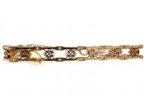 9ct Rose Gold Gate Bracelet