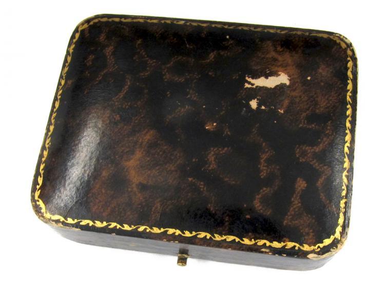 Onyx 9ct & 18ct Gold Cufflinks & Studs in Original Case