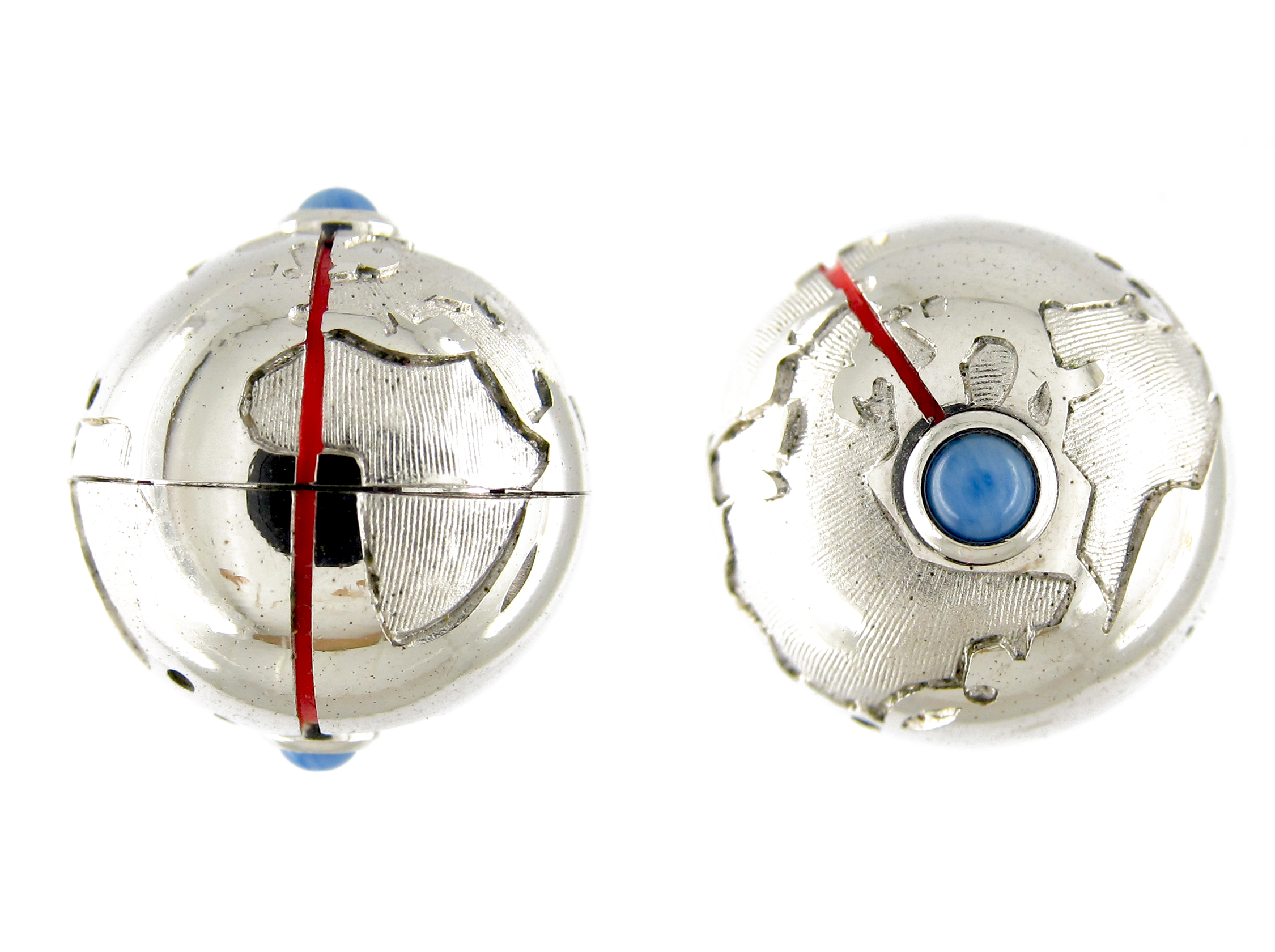 Dunhill Silver Globe Cufflinks