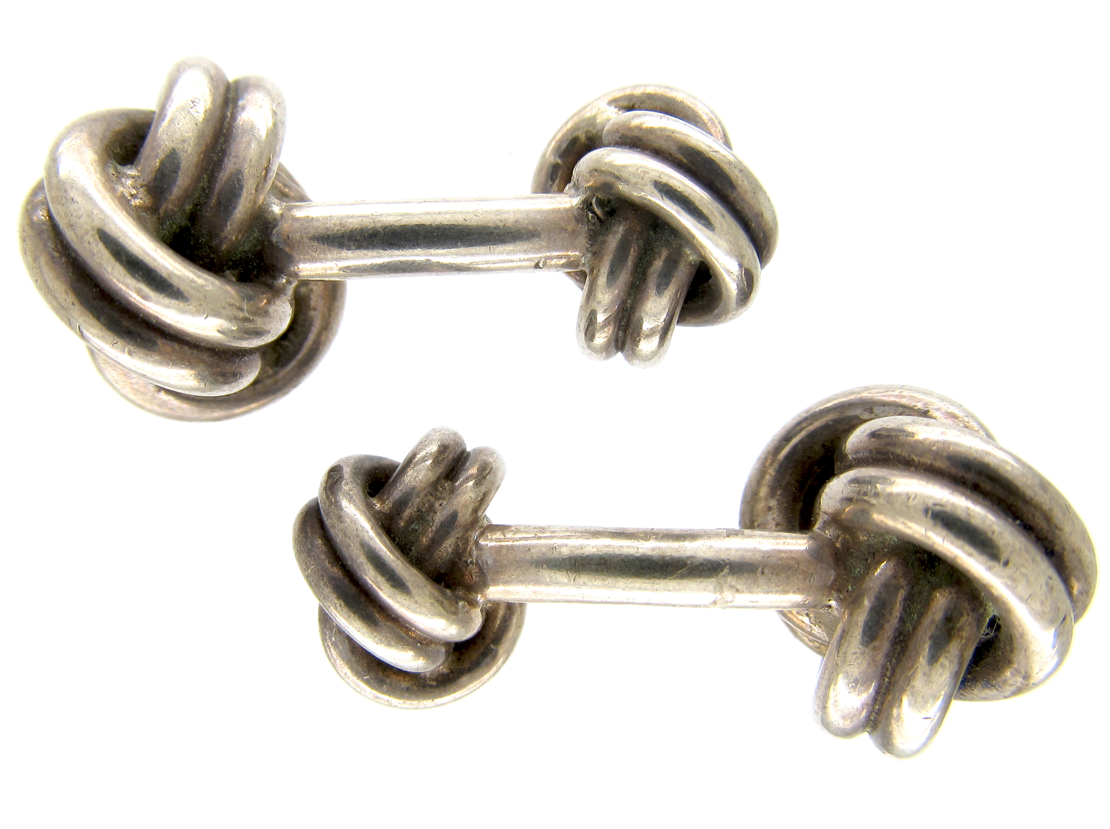 Tiffany & Co. Silver Knot Cufflinks