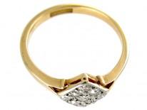 Diamond Shape Diamond Art Deco Ring
