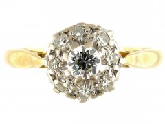 18ct & Platinum Diamond Cluster Ring