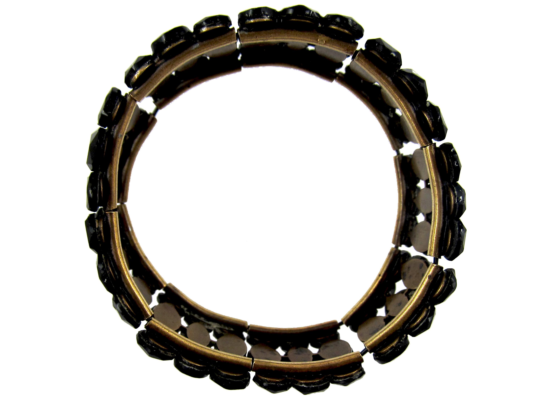 Vauxhall Glass Burgundy Colour Regency Bracelet
