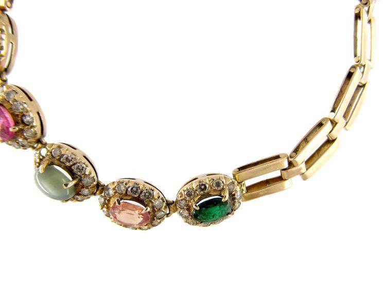 Edwardian Multi Gemstone Bracelet