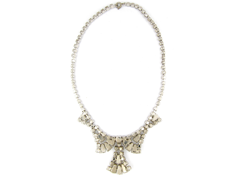 Metal & Paste Art Deco Necklace