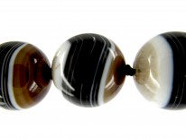 Onyx Beaded Necklace with Onyx & Gold Clasp