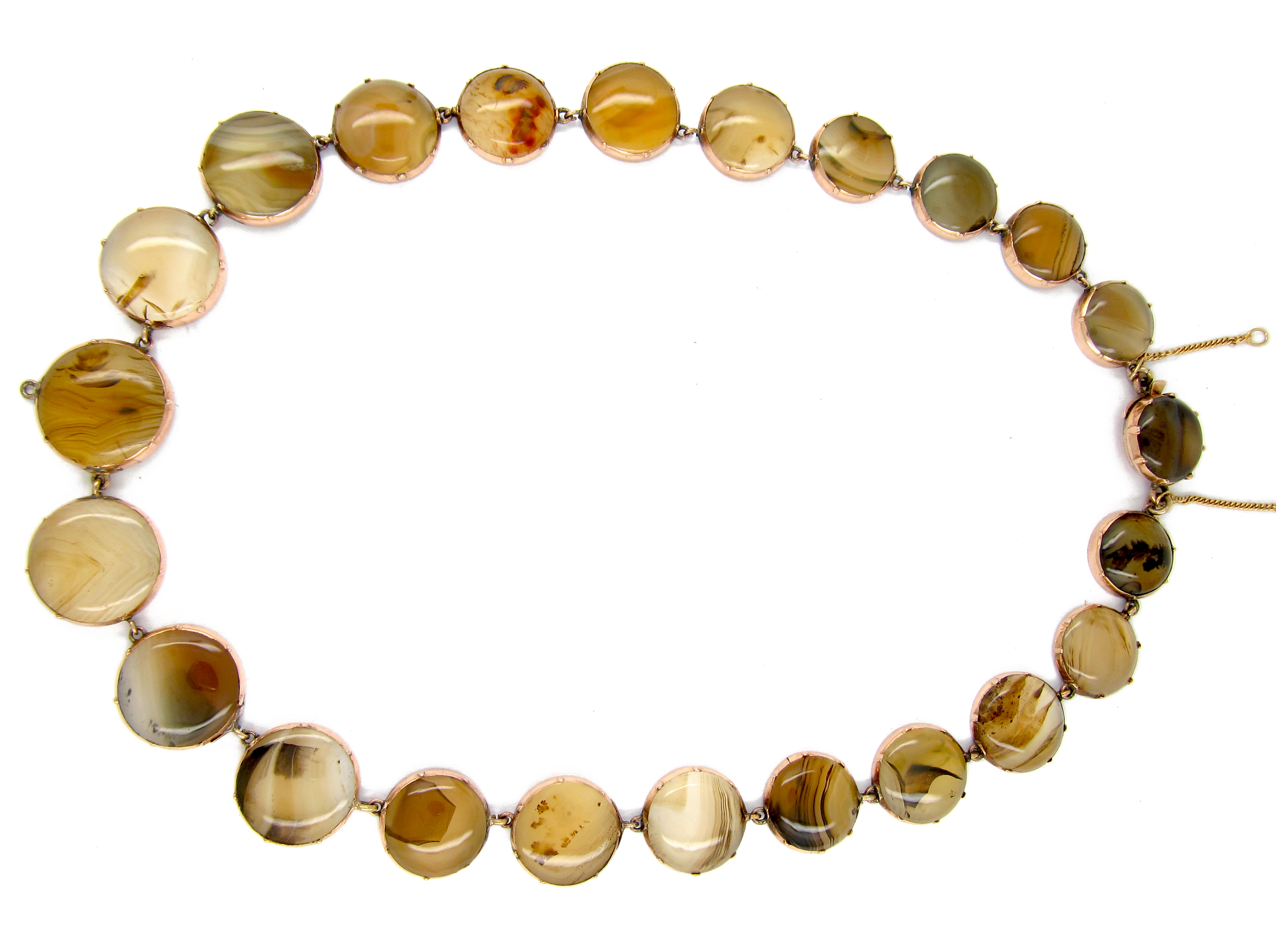 Georgian Brown Agate & Gold Necklace