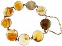Georgian Brown Agate & Gold Bracelet