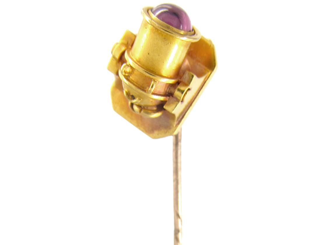 Victorian Gold Canon Tie Pin