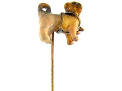 Pug Dog Enamel Tie Pin
