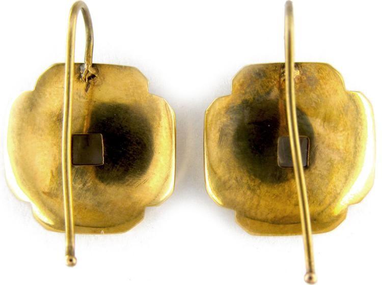 Moonstone Stylised Flower Retro Earrings
