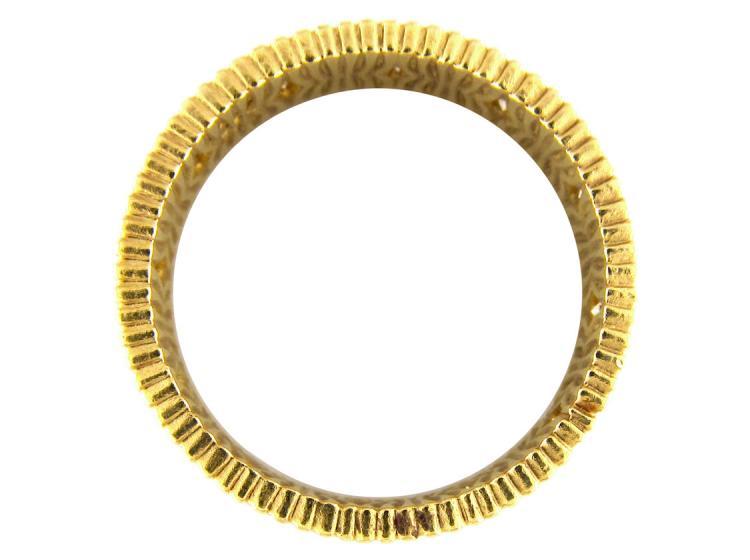 Diamond Set 18ct Gold Band