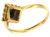 Sapphire & Diamond Shape Edwardian Ring
