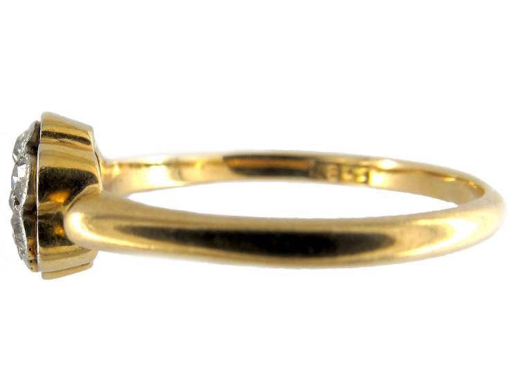 Diamond Edwardian Small Cluster Ring