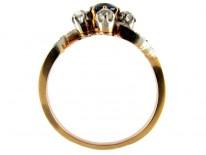 Sapphire & Diamond Twist Ring