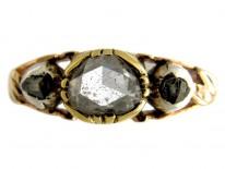Georgian Rose Diamond Ring