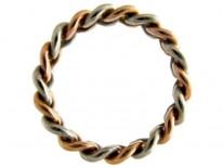 Edwardian Chainlink Platinum & Gold Ring