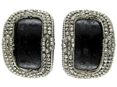 Georgian Cut Steel Buckles, in Original Case