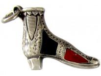 Victorian Scottish Silver & Agate Boot Charm